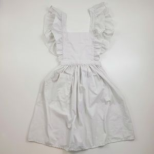 Prairie Style Ruffled Apron Maid Uniform Costume
